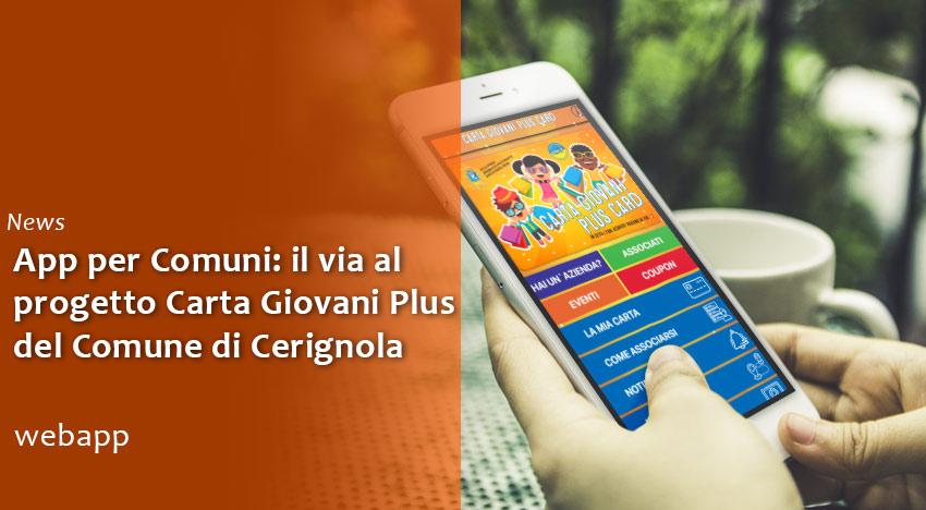 App per Comuni: il via al progetto Carta Giovani Plus di Cerignola