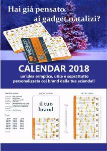 Calendar Card 2018 - Occasione di branding per la tua azienda by Webapp