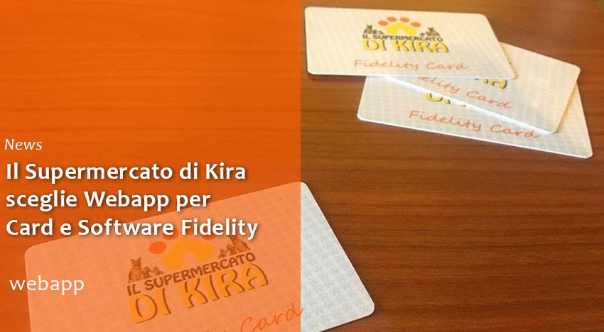 Il Supermercato di Kira sceglie Webapp Card e Software Fidelity
