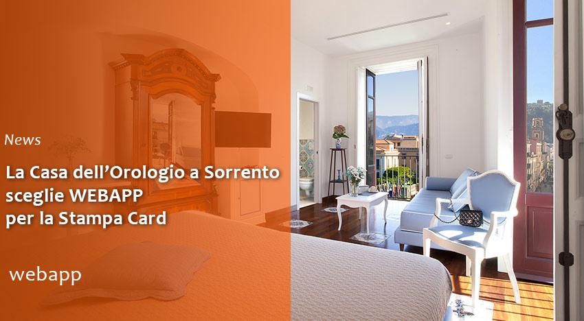 Stampa card per l'albergo Casa dell'Orologio a Sorrento
