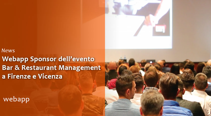 Webapp tra gli Sponsor dell'evento Bar & Restaurant Management