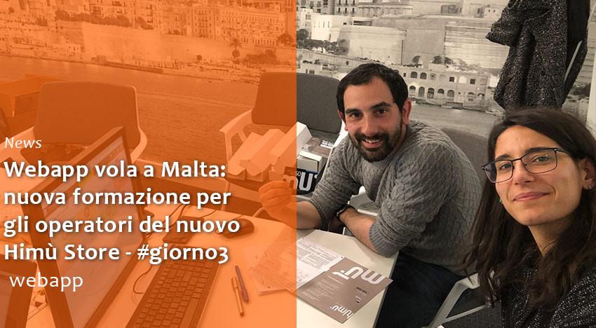 Webapp vola a Malta – #giorno3: formazione su Food Delivery, Fidelity e Prepagato